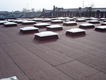 built up roof. Strip Off Existing Roof Coverings Install Icopal Profiles Built Up Felt System Includes Vapour Vent XL Insulation